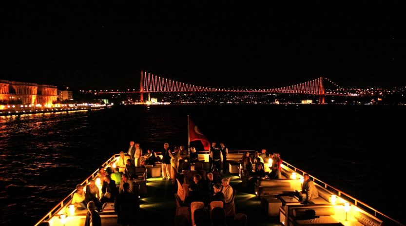 Bosphorus cruise at night