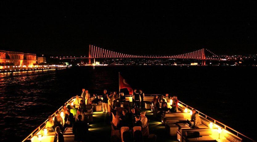Bosphorus cruise at night